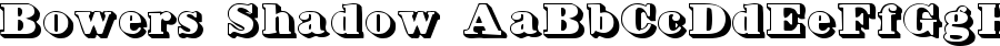 bowers shadow Font