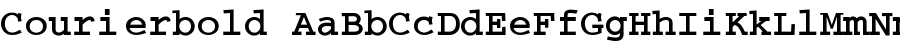 courierbold Font
