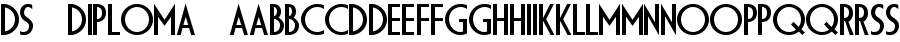 ds diploma Font