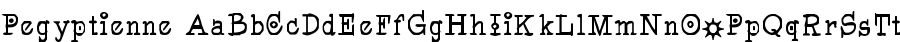 pegyptienne Font