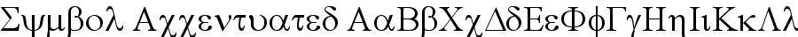 symbol accentuated Font