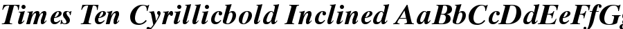 times ten cyrillicbold inclined Font