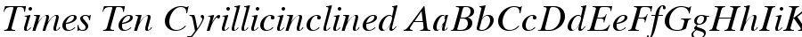 times ten cyrillicinclined Font